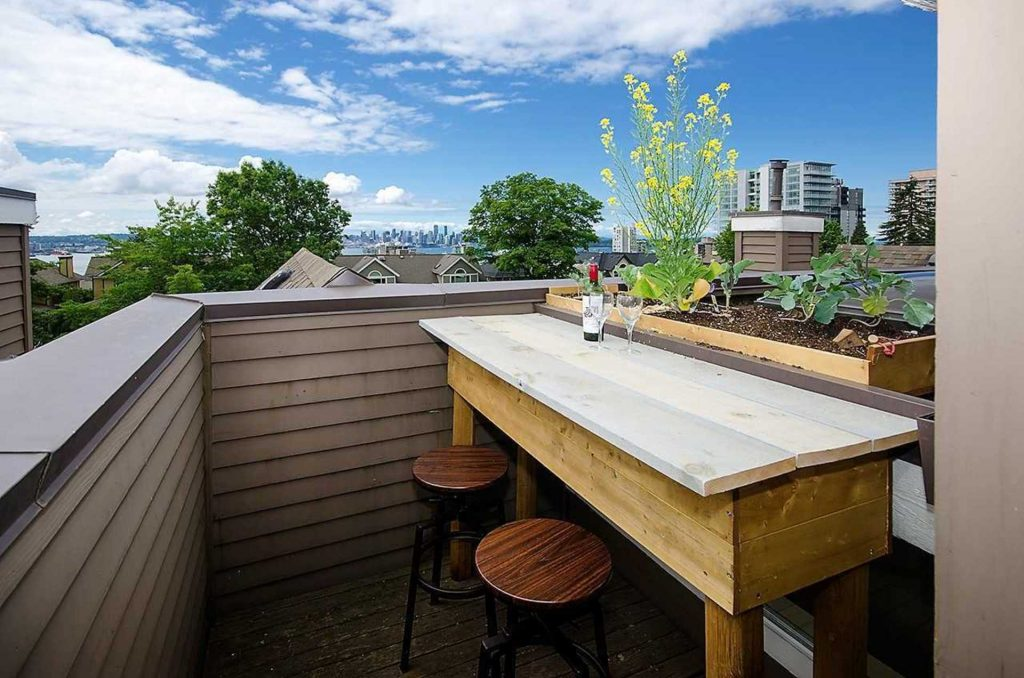 Central Lonsdale Townhome Rooftop Deck Views