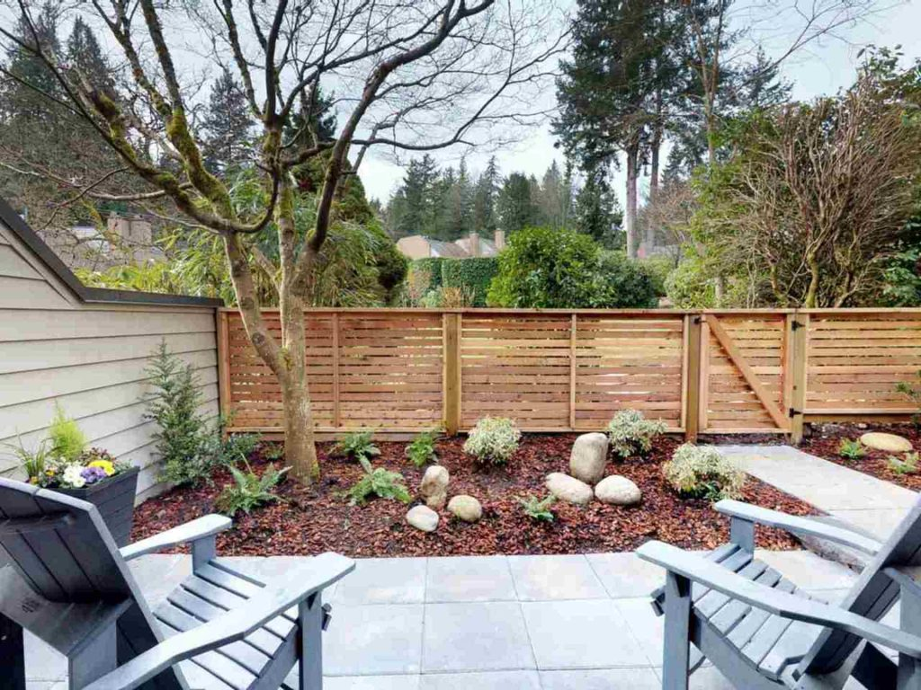 Marine Drive West Vancouver Townhome Backyard